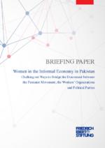 "Briefing paper ""Women in the informal economy in Pakistan"""