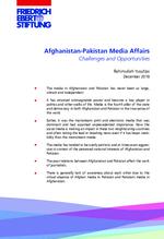 Afghanistan-Pakistan media affairs